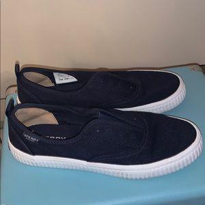 Sperry Navy Slip On Sneakers
